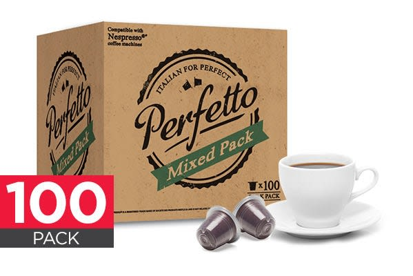 Image of 100 Pack Perfetto Nespresso Compatible Coffee Pods (Mixed Pack)