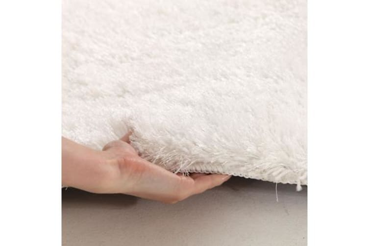 Twilight Shag Rug - White 145x75cm