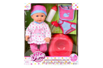 GIGO Dream Collection 14-Inch Drink and Wet Baby Doll Playset