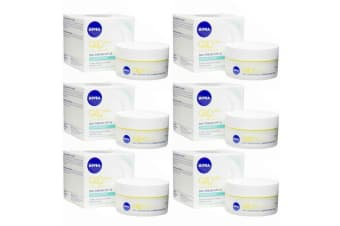 6PK Nivea 50ml Q10 Plus Anti Wrinkle Day Cream Moisturiser SPF 15 UVA Protection