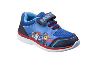Leomil Childrens Boys Paw Patrol Case And Marshall Touch Fastening Trainers (Dark Blue) (11.5 Child UK)