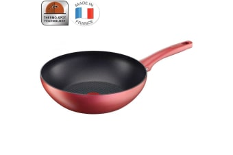 Tefal 28cm Character Wokpan Wok Pan Induction Dishwasher Safe Thermo Spot