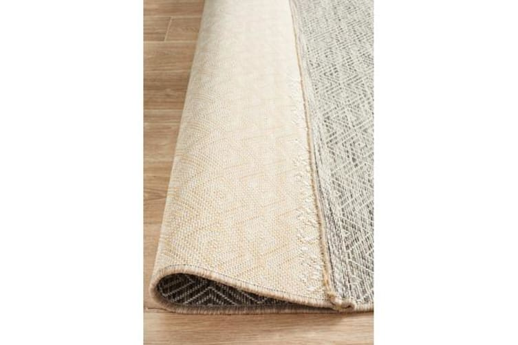 Wyatt Natural Geometric Coastal Rug 230x160cm