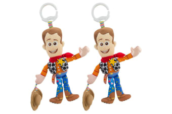 2PK Lamaze 29cm Toy Story Clip & Go Baby/Infant Activity Toy w/Teether Woody