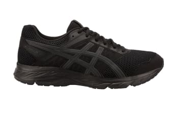 ASICS Men's GEL-Contend 5 Running Shoe (Black/Dark Grey, Size 12.5)