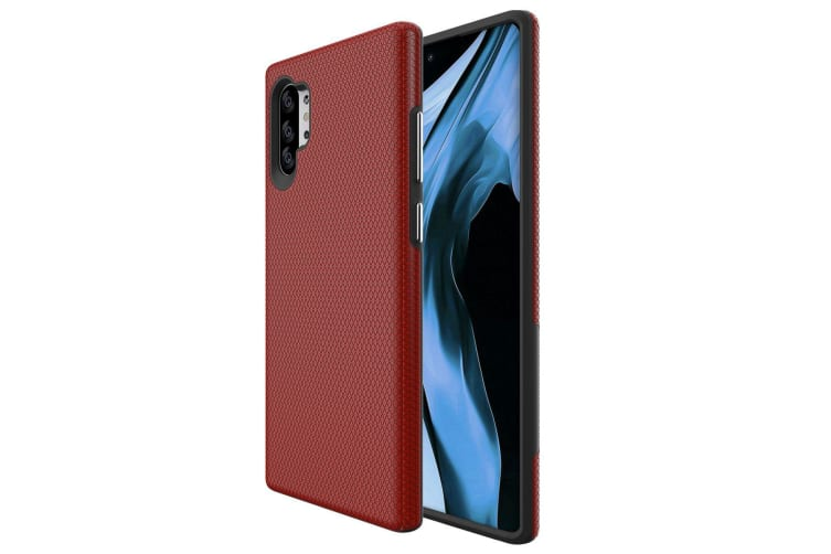For Samsung Galaxy Note 10+ Plus Armour Case Shockproof Slim  Back Cover Red