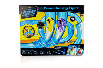 Super Speed Pipes Double Barrel - Remote Control Car Racing Set