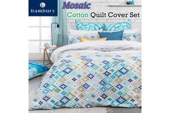 Mosaic Cotton Quilt Cover Set by Bambury