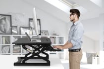 Kogan Height Adjustable Standing Desk Riser (Large, Black)