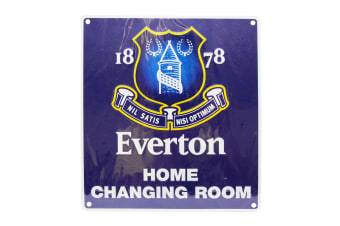 Everton FC Official Home Changing Room Metal Bedroom Sign (Blue)