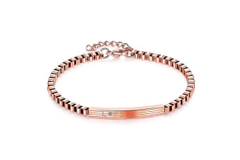 Love Box Chain Bracelet|Rose Gold/Clear