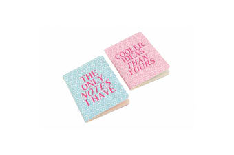 Sweet Tooth A6 The Only Notes I Have Cooler Ideas Notebooks (Pack Of 2) (Pink/Blue)