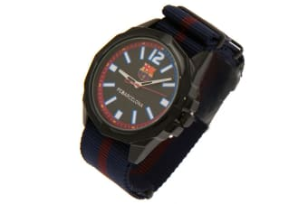FC Barcelona Mens Water Resistant Watch (Black) (One Size)