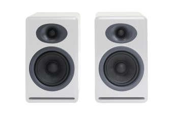 Audioengine P4 Passive Bookshelf Speakers Pair - Hi-Gloss White