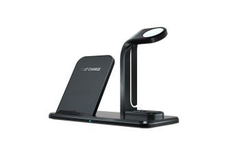 Separate Three-In-One Wireless Charger For Mobile Phone Headset Watch Bracket - Black Black