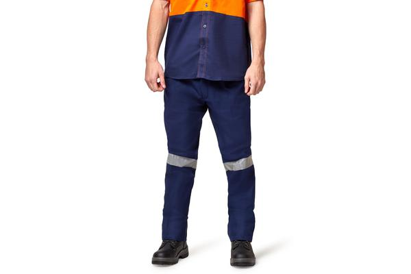Hard Yakka Foundations Drill Pant with Double Hoop Tape (Navy, Size 112S)