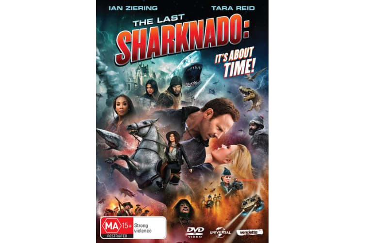 The Last Sharknado Its About Time DVD Region 4