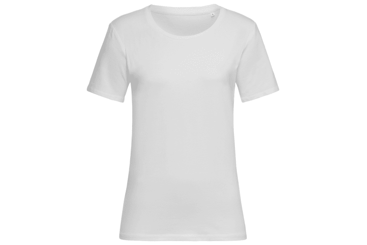 Stedman Womens/Ladies Stars T-Shirt (White) (XL)