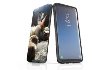 For Samsung Galaxy S9+ Plus Case Armour Cover  Cozy Cat