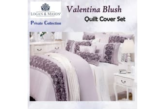 Valentina Blush Quilt Cover Set QUEEN by Private Collection