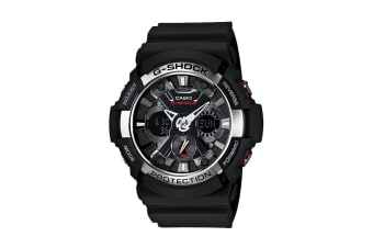 Casio G-Shock Analog Watch with Resin Band - Black/Silver (GA200-1A)