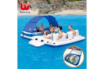 Bestway Floating Water Inflatable Tropical Breeze Raft 6-Person