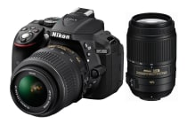 Nikon D5300 DSLR Camera 18-55mm & 55-300mm Twin VR Lens Kit (Black)