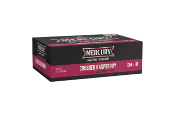 Mercury Hard Cider Crushed Raspberry 24 x 375mL Cans