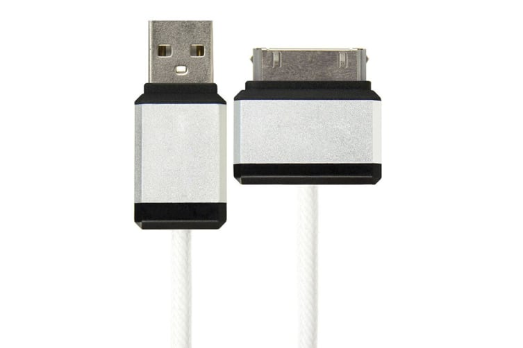 2PK Gecko Rugged USB to 30 Pin 1.2m Cable for Apple iPod/iPhone 3/3G/4/4S