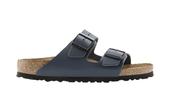 Birkenstock Unisex Arizona Smooth Leather Sandal (Navy, Size 41 EU)