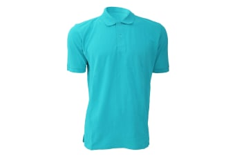 Russell Mens 100% Cotton Short Sleeve Polo Shirt (Turquoise) (S)