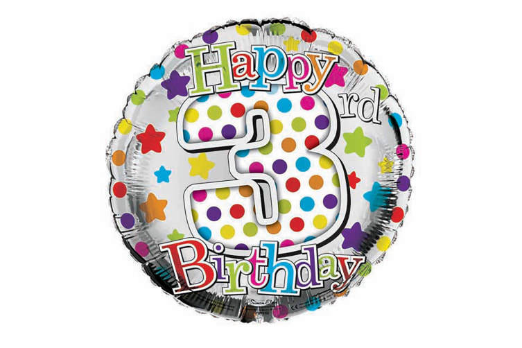 Simon Elvin 18 Inch Happy Birthday Star Design Foil Balloon (Multicoloured) (16th Birthday)