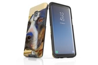 For Samsung Galaxy S9 Case Armour Cover  Sceptical Staffy
