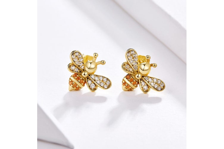 .925 Kayla Bee Stud Earrings