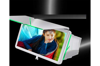 Telescopic Shading 12 inch Mobile Phone Screen HD Eye Protection Video Theater Support Office Home 3D Amplifier 15.5X24X6.3cm-WHITE