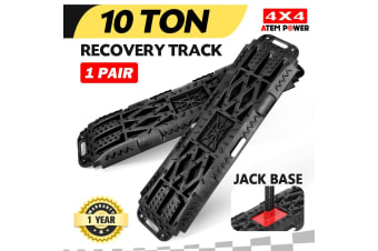 ATEM POWER Recovery Tracks Sand Track Black Pair 10T 4WD Black Car Accessories 4x4