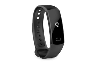 TODO Bluetooth V4.0 Fitness Watch Band Heart Rate Blood Pressure Ip67 0.91 Oled - Black