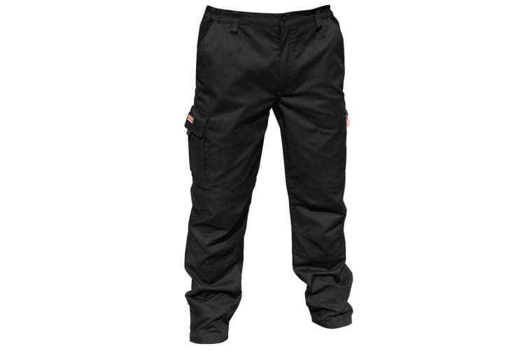 """Result Mens Stretch Work Trousers / Pants (32 Inch Leg Length) (Black) (36"""")"""
