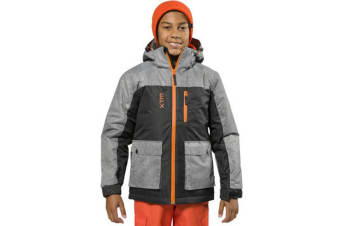 XTM Kid Unisex Snow Jackets Kamikaze Youth Jacket Black Denim - 10