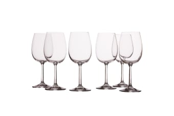 6pc Casa Domani 250ml Evolve White Wine Glass Glasses Bar Tableware Drinks Set