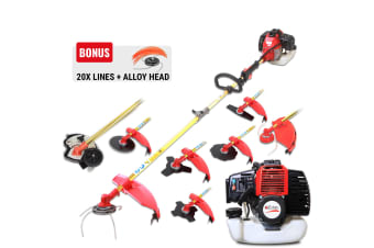 BlackEagle 52cc Petrol Brush Cutter Whipper Snipper Weed Trimmer Lawn Edgger