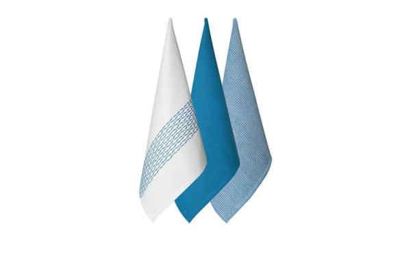 Tidy Pro Diamond Tea Towel Set of 3 Blue