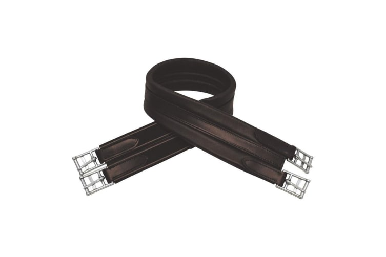HyCOMFORT Leather Padded Atherstone Girth (Brown) (44in)