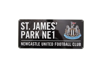 Newcastle United FC Official St James Park Football Crest Street Sign (Black)