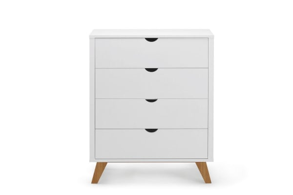 Ovela Chest of 4 Drawers - Finse Collection (White)