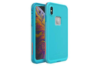 Lifeproof iPhone XS Max FRE Case Waterproof Dirtproof Snowproof Dropproof Cover for Apple - Blue & Orange Boosted