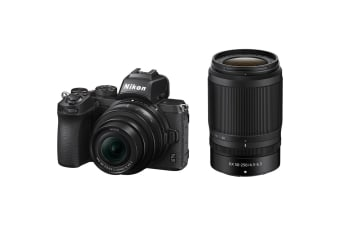 Nikon Z50 Mirrorless Digital Camera with 16-50mm & 50-250mm Twin Lens Kit