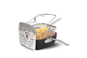 Multipack Ceramic Copper Non-Stick Pan Casserole Square Deep Frying Tray Steamer