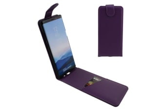 For Samsung Galaxy Note 8 Case iCoverLover Vertical Flip Genuine Leather Purple