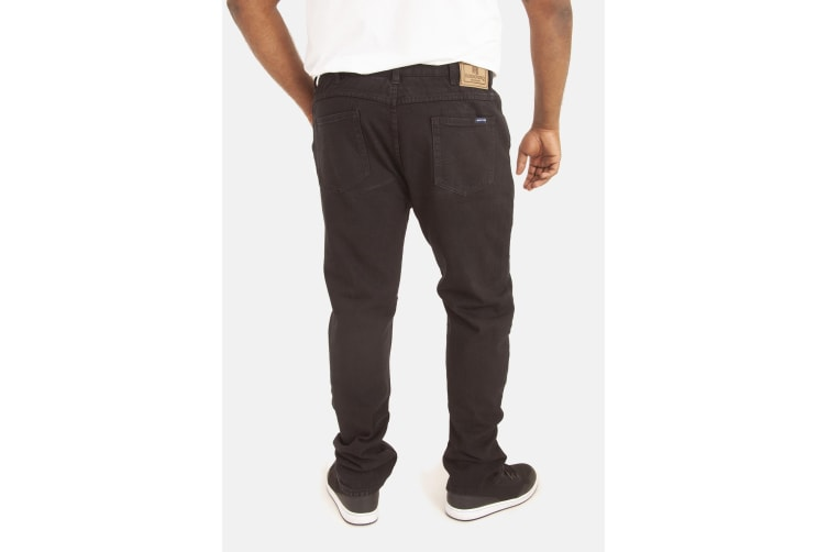 Duke Mens Rockford Kingsize Comfort Fit Jeans (Black) (42R)